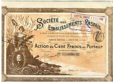 Etabilssements Raspail  Paris  1904  Hochdeko