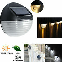 6LED Solar Power Wall Mount Light Outdoor Garden Path Way Fence Yard Stair Lamp