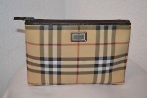 Burberry Tasche Clutch Tasche Kosmetiktasche Nova Check Top Zustand