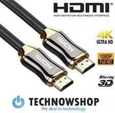 HDMI Cable 2.0 Premium 4K High Speed Gold Plated Braided Lead 2160p 3D HDTV UHD
