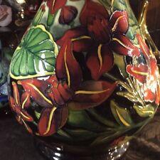 Moorcroft Prestige Palmata 80/20 Vase Designed By Shirley Hayes