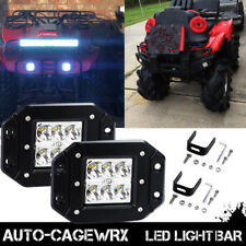 DOT Led Light Flush Mount Backup Reverse Front Rear Bumper Cube Pods Fog Lamp US