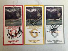 81st PGA Championship autographs: Hale Irwin,Jean Van de Velde, Stuart Appleby