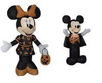 Gemmy Disney Mickey And Minnie Halloween Inflatable Led New! 3.5 Feet Tall