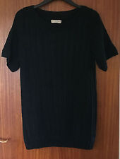 M&S Indigo Ladies Black Short Sleeve Jumper, size 12