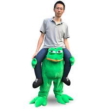 Carry Me Animal Frog Ride on Pants mascot costume walk unisex fancy dress