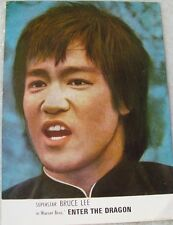 """Color Picture Card of Bruce Lee's movie """"Enter the Dragon"""" from India 1970'S Rar"""