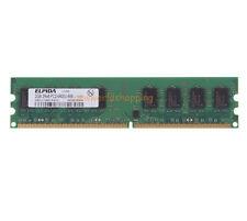 Elpida 2GB DDR2 PC2-6400U 2RX8 800MHz DIMM para Computadora de Escritorio Memoria Ram Baja Densidad PC6400