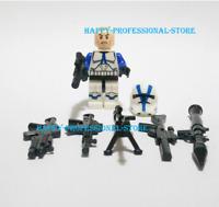 Star Wars 501St Clone Trooper Shock Multiple Guns Superhero Minifigures Lego MOC