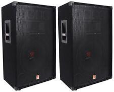 "(2) Rockville RSG15 15"" 3-Way 1500 Watt 8-Ohm Passive DJ/Pro Audio PA Speaker"