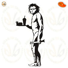 Adesivo murale primitivo bansky primitive man Wall stickers pvc black cropped