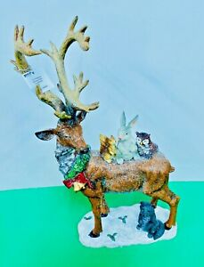 HOLIDAY DEER with FURRY FRIENDS Woodland Country CHRISTMAS TABLE TOP 2533800 NeW