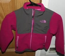 The North Face Denali Pink and Grey Fleece Jacket Girls XXS size 5 pre owned