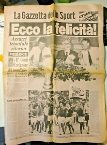 """LA GAZZETTA DELLO SPORT - 1982 """" ECCO LA FELICITA' """" ESPANA '82 BEARZOT PERTINI"""