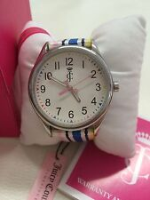 NIB Juicy Couture Darby Pastel Stripes Ladies Watch.. 1900913