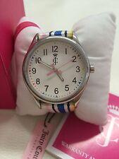 NIB Juicy Couture Darby Pastel Stripes Ladies Watch.. 1900913