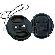 3x 77mm Center Pinch Snap-on Front Lens Cap Cover For Canon EOS 17-40mm 24-