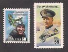 Внешний вид - WORLD WAR I - WWI AVIATORS - EDDIE RICKENBACKER & BILLY MITCHELL - 2 U.S. STAMPS