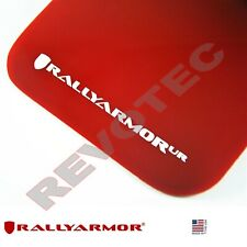 Rally Armor Mud Flaps 12-14 Fiat 500 Red w White Logo