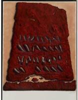 Moshe Elazar Castel SECRET WRITING 1979 Signed Limited Edition Lithograph