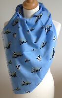 NEW 100% COTTON WOMEN'S BADGER PRINT SCARF BY JUNIPER