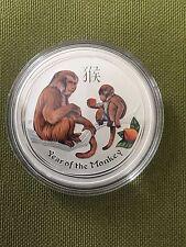 2016 Australia Lunar Year of Monkey colored silver coin 1 oz 999 Perth mint