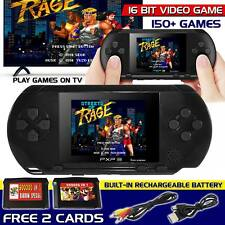 16Bit Handheld Portable PXP3 Retro Video Game Console 150+ Games 2 Free Cards