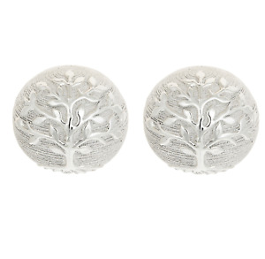 Tree of Life Pair Of Decorative Ornaments Ceramic Silver Balls Home Decor Gift