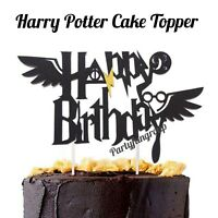 Harry Potter Birthday Cake Topper New Wings Cake Decoration Party Supplies