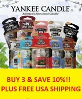 ☆YANKEE CANDLE CAR JAR ULTIMATES CHOOSE THE SCENT☆BUY 3 AND SAVE 10%- FREE SHIP!