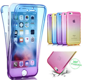 iPhone 4/5/6/7 PLUS Pink/Blue Silicone Two Crystal Phone Case