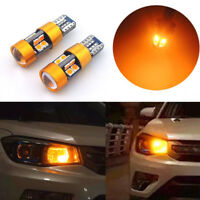 2x Amber Car Position Parking City Light T10 194 168 2825 W5W 19-SMD LED Bulb