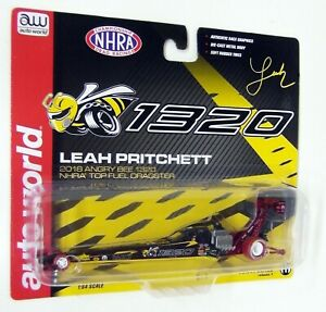Autoworld 1/64 Leah Pritchett '18 Topfuel NHRA Dragster Angry Bee 1320 Chase Car