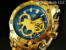 Invicta Mens Pro Diver Scuba 3.0 Skeletonized Blue Dial 18K Gold Plated SS Watch