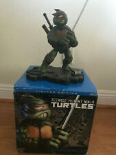 Teenage Mutant Ninja Turtles Leonardo Cold Cast Statue Playmates 2003 w/ COA