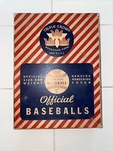 Vintage Triple Crown Babe Ruth Official Baseball BOX