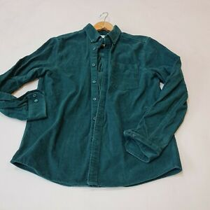 Farah Teal Green Corduroy Shirt Size m