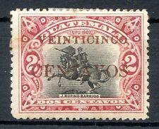 Guatemala Yvert # 159, Red Overprint, Mh, Vf