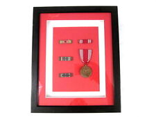 Framed Original US WWII Medals & Service Ribbons WWII Victory EAME Good Conduct