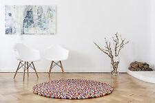 Myfelt Lotte 140 cm alfombra de diseño 100% lana bola de fieltro alfombra de niños alfombra