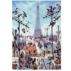 Eiffel Tower Cartoon 1000 Piece Jigsaw Puzzle