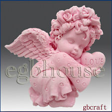 Valentine Angel Girl- Detail of High Relief Sculpture - Silicone Soap/clay mold