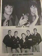 Sonny and Cher, Jay and the Americans, Full Page Vintage Pinup