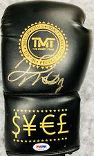 Floyd Mayweather Jr. Signed Boxing Glove Auto Black TMT - PSA DNA COA