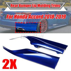 For Honda Accord 2018-2020 4DR Still Night Blue Rear Bumper Lip Aprons