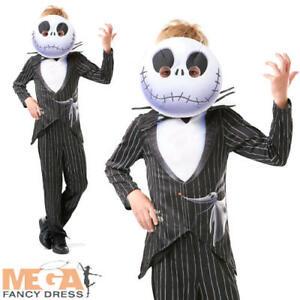 Jack Skellington Boys Fancy Dress Nightmare Before Christmas Halloween Costume