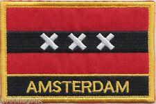Amsterdam City Netherlands Flag Embroidered Patch Badge - Sew or Iron on