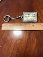 VINTAGE Advertising Strauch Funeral Home Key Chain