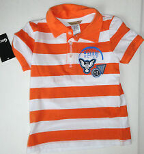 NEW GUESS BOYS 3 YEARS ORANGE WHITE STRIPED POLO SHIRT  AUTH