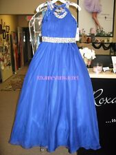 Little Rosie LR2154 Royal Blue Stunning Little Girls Pageant Gown Dress sz 14